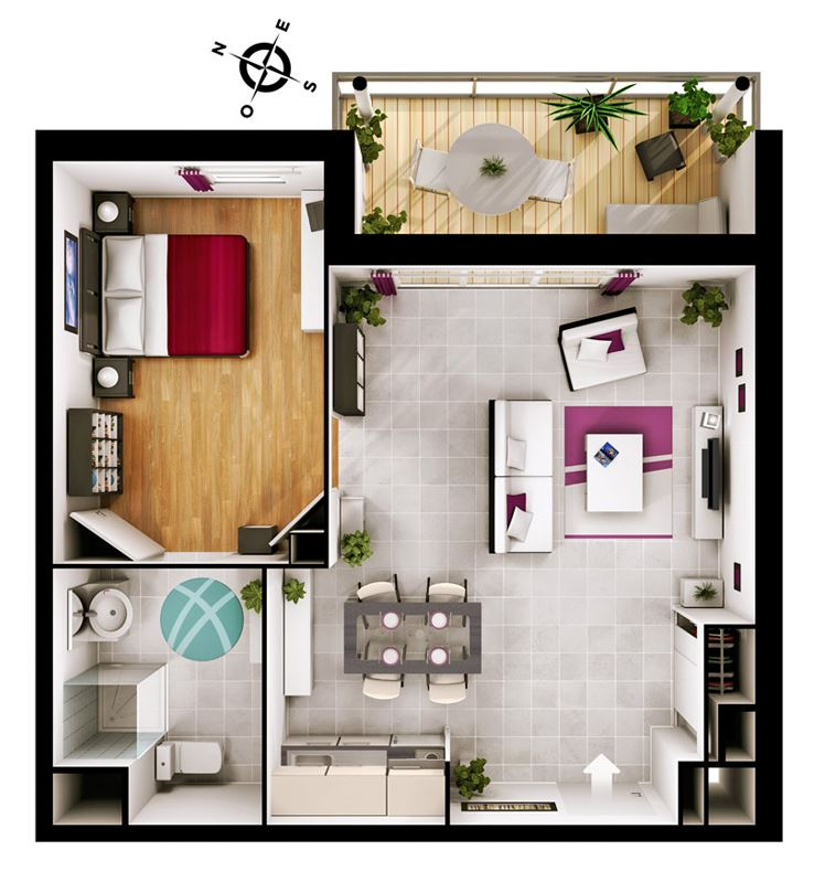 Location appartements balma 31 de t2 au t4 satc for Appartement design t2