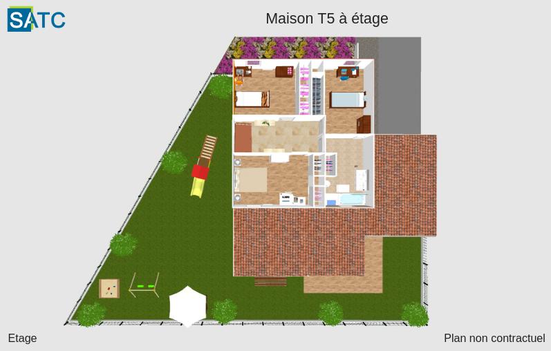 Perspective maison T5 étage
